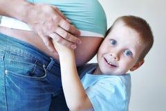 Δεύτερη εγκυμοσύνη Στοκ Φωτογραφία