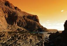 δεύτερη κοιλάδα ηλιοβασιλέματος Στοκ φωτογραφίες με δικαίωμα ελεύθερης χρήσης