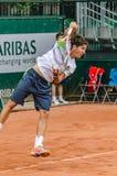 Δεύτερος κύκλος παιχνιδιών του Dusan Lajovic στο Roland Garros 2014 στοκ εικόνα με δικαίωμα ελεύθερης χρήσης