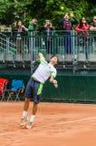 Δεύτερος κύκλος παιχνιδιών του Dusan Lajovic στο Roland Garros 2014 στοκ φωτογραφίες με δικαίωμα ελεύθερης χρήσης