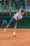 Δεύτερος κύκλος παιχνιδιών του Dusan Lajovic στο Roland Garros 2014 Στοκ εικόνες με δικαίωμα ελεύθερης χρήσης