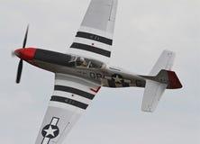 Δεύτερος Παγκόσμιος Πόλεμος π-51 αεροσκάφη μαχητών μάστανγκ Στοκ Εικόνες