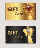 Δελτίο δώρων, κάρτα δώρων, κάρτα έκπτωσης, επιχείρηση Στοκ Εικόνες