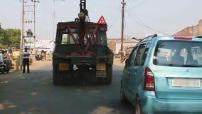 Δελχί, Ινδία, στις 10 Νοεμβρίου 2011: Κυκλοφορία στο δρόμο στην Ινδία απόθεμα βίντεο
