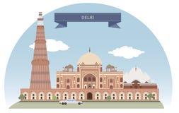 Δελχί, Ινδία διανυσματική απεικόνιση