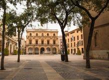 Δημαρχείο δημάρχου Plaza Castellon de Λα Plana στοκ φωτογραφία με δικαίωμα ελεύθερης χρήσης