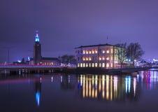 Δημαρχείο και Stromsborg. Στοκ Εικόνα