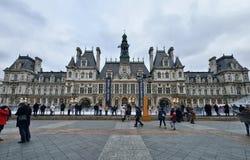Δημαρχείο, Παρίσι Στοκ φωτογραφία με δικαίωμα ελεύθερης χρήσης