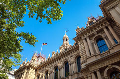 Δημαρχείο που χτίζει το Σίδνεϊ Αυστραλία Στοκ Φωτογραφία