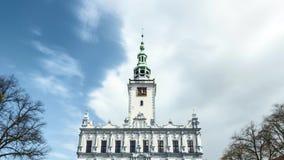 Δημαρχείο σε Chelmno στην Πολωνία - βίντεο χρονικού σφάλματος απόθεμα βίντεο