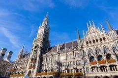 Δημαρχείο σε Marienplatz στο Μόναχο, Γερμανία Στοκ Φωτογραφίες