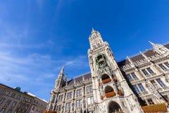 Δημαρχείο σε Marienplatz στο Μόναχο, Γερμανία Στοκ φωτογραφία με δικαίωμα ελεύθερης χρήσης