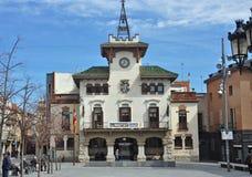 Δημαρχείο σε Sant celoni-Καταλωνία Στοκ Φωτογραφίες