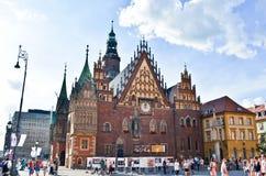 Δημαρχείο σε Wroclaw, Πολωνία Στοκ Εικόνες