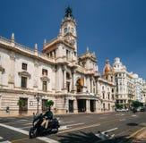 Δημαρχείο στη Βαλένθια, Ισπανία Στοκ φωτογραφία με δικαίωμα ελεύθερης χρήσης