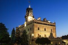 Δημαρχείο στο τετράγωνο αγοράς σε Jaroslaw στοκ εικόνα