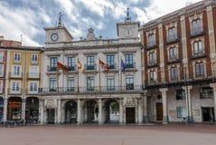 Δημαρχείο της πόλης του Burgos, Καστίλλη Ισπανία στοκ φωτογραφία
