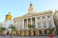 Δημαρχείο του Καντίζ, Ανδαλουσία, Ισπανία στοκ φωτογραφία με δικαίωμα ελεύθερης χρήσης
