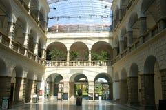 Δημαρχείο Hranice - καλυμμένο προαύλιο Στοκ φωτογραφία με δικαίωμα ελεύθερης χρήσης