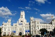 Δημαρχείο Plaza de Cibeles στη Μαδρίτη Στοκ Φωτογραφία