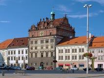 Δημαρχείο Plzen, Δημοκρατία της Τσεχίας Στοκ εικόνες με δικαίωμα ελεύθερης χρήσης