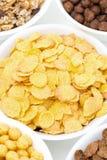Δημητριακά και δημητριακά προγευμάτων, τοπ άποψη Στοκ Εικόνα