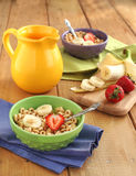 Δημητριακά με το γάλα και τους καρπούς στοκ εικόνα με δικαίωμα ελεύθερης χρήσης