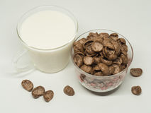 Δημητριακά προγευμάτων σοκολάτας στοκ φωτογραφίες