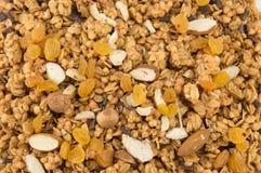 Δημητριακά Granola με ξηρό - υπόβαθρο φρούτων στοκ φωτογραφία