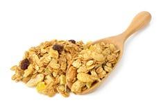 Δημητριακά granola μιγμάτων στο λευκό Στοκ Εικόνα