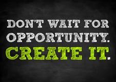 Δημιουργήστε την ευκαιρία σας στοκ εικόνες