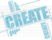 Δημιουργήστε το κείμενο στο σημειωματάριο Στοκ φωτογραφία με δικαίωμα ελεύθερης χρήσης