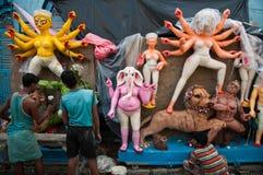 Δημιουργία ειδώλων Durga στην Ινδία Στοκ Εικόνα