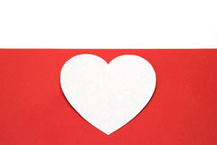 Δημιουργία της κόκκινης καρδιάς του χρωματισμένου σχεδίου εγγράφου Στοκ Εικόνα