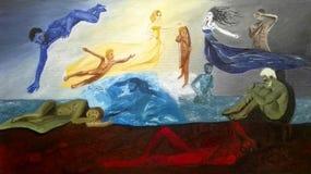 Δημιουργία του κόσμου - ελληνική μυθολογία Στοκ εικόνα με δικαίωμα ελεύθερης χρήσης