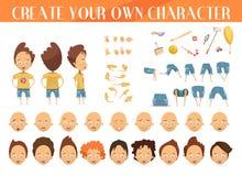 Δημιουργία του συνόλου αγοριών χαρακτήρα απεικόνιση αποθεμάτων