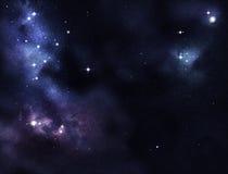 δημιουργημένο ψηφιακό starfield Στοκ Εικόνες