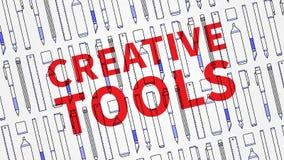 Δημιουργικά εργαλεία για τη διανυσματική απεικόνιση σχεδιαστών Στοκ Εικόνες