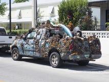 Δημιουργικά διακοσμημένο φορτηγό επανάληψης στη Key West, Φλώριδα Στοκ φωτογραφία με δικαίωμα ελεύθερης χρήσης