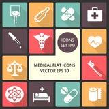 Δημιουργικά διανυσματικά επίπεδα εικονίδια έννοιας των ιατρικών στοιχείων για τον Ιστό και τις κινητές εφαρμογές Διανυσματική απε Στοκ φωτογραφίες με δικαίωμα ελεύθερης χρήσης