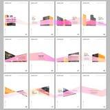 Δημιουργικά πρότυπα φυλλάδιων με το σχέδιο αρχιτεκτονικής r Πρότυπα σχεδίου καλύψεων διανυσματική απεικόνιση