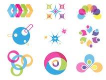 Δημιουργικά στοιχεία σχεδίου χρώματος Στοκ φωτογραφίες με δικαίωμα ελεύθερης χρήσης