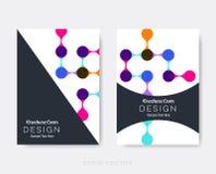 Δημιουργικά σύγχρονα πρότυπα σχεδίου φυλλάδιων Στοκ Φωτογραφίες