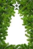 Δημιουργικά σύνορα χριστουγεννιάτικων δέντρων Στοκ Εικόνα