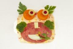 δημιουργικά τρόφιμα 2 παιδ&io Στοκ φωτογραφίες με δικαίωμα ελεύθερης χρήσης