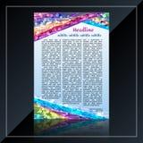 Δημιουργικά χρωματισμένα ιπτάμενο ή φυλλάδια για την επιχείρηση Στοκ φωτογραφία με δικαίωμα ελεύθερης χρήσης