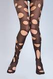 δημιουργικές γυναικείες κάλτσες Στοκ Εικόνες