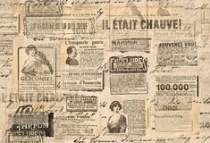 Δημιουργικές εκλεκτής ποιότητας λουρίδες εφημερίδων σύστασης εγγράφου υποβάθρου στοκ εικόνα