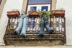 Δημιουργικές διακοσμήσεις στην Κοΐμπρα, Πορτογαλία Στοκ φωτογραφία με δικαίωμα ελεύθερης χρήσης