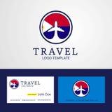 Δημιουργικές λογότυπο και επαγγελματική κάρτα σημαιών κύκλων του Άγιος-Martin ταξιδιού ελεύθερη απεικόνιση δικαιώματος